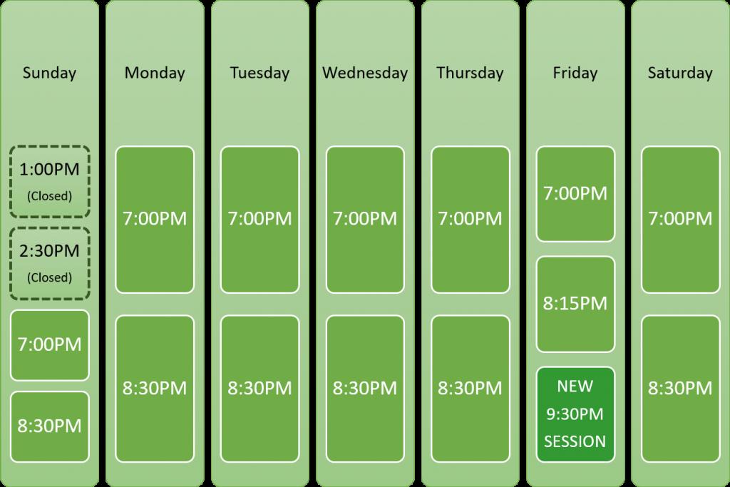 Bingo Barn August Schedule